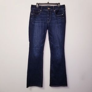 American Eagle Sz 12 Long Kick Boot Blue Jeans